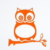 Wise Ol' Owl Mobile in Orange