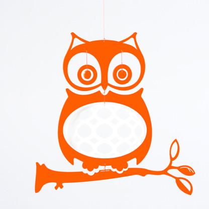 Wise Ol' Owl Mobile in Orange