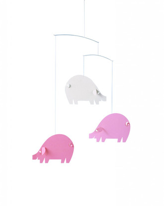 Flensted Pig Mobile in Pink and Blue