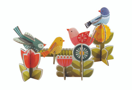 Petit Collage Pop-out and Play Modern Birds