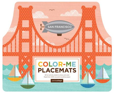 Petit Collage San Francisco Color-Me Placemats