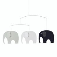 Flensted Elephant Party Black/White