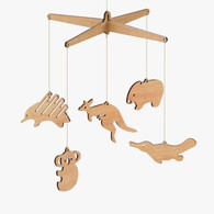 Byrne Woodware Australian Animals Baby Mobile