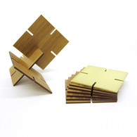 Ekko Workshop Sculpture Squared, Walnut and Brass