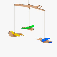 Byrne Woodware Australian Bird Baby Mobile