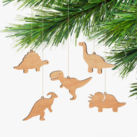 Byrne Woodware Dinosaur Ornaments