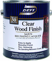 DEFT Clear Wood Finish Brushing Lacquer SATIN/ 1 Quart