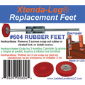 Ladder Leveler Replacement Rubber Feet (Pair)