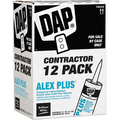 DAP  10.1OZ WHITE ALEX PLUS CAULK CONTRACTOR 12-PACK