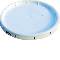 ENCORE  3.5G & 5G WHITE TEAR STRIP GASKETED LID NO UPC CODE ON LID