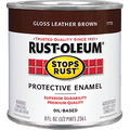 RUSTOLEUM  .5PT GLOSS LEATHER BROWN STOPS RUST