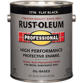 RUSTOLEUM  1G FLAT BLACK PROFESSIONAL OIL BASED ENAMELY