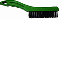 "MERIT PRO  10"" 4 X 16 ROW TEMPERED STEEL PLASTIC SHOE HANDLE WIRE BRUSH"