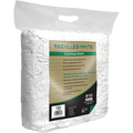 MERIT PRO  #10 8LB BLOCK RECYCLED WHITE COTTON KNIT WIPING CLOTHS