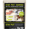 TRIMACO 04318 4' X 12' STAY PUT CANVAS W/ANTI-SLIP BARRIER DROP CLOTH DROP CLOTH