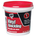 Dap 12130 Vinyl Spackling Compound  Interior, White, 1/2-Pint