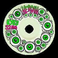 Heroin Skateboard Wheels - Glow in the Dark Eyes