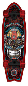 Santa Cruzer Complete - Land Shark Sugar Skull - Black - 27.7  IN