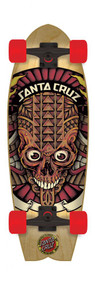 Santa Cruzer Complete - Land Shark Tiki Skull - Black - 27.7  IN
