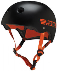Pro-Tec Helmet - Satin Black/Orange