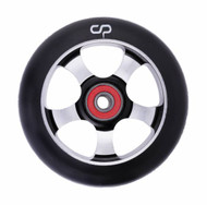 Crisp  5 Spoke 100mm Wheel - Black / Silver