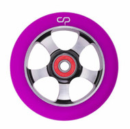 Crisp  5 Spoke 100mm Wheel - Silver / Purple