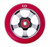 Crisp  5 Spoke 100mm Wheel - Silver / Red