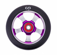 Crisp  5 Spoke 100mm Wheel - Black / Purple / Silver