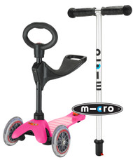 Mini Micro 3-in-1 Ride On Scooter - Pink