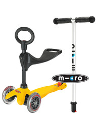 Mini Micro 3-in-1 Ride On Scooter - Yellow