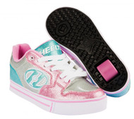 Heelys Motion Plus - Silver/Light Pink/Light Blue