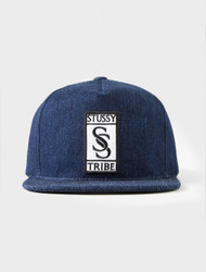 Stussy Shadow Denim Snapback Hat