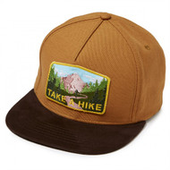 Skate Mental Snapback Hat - Take A Hike - Brown