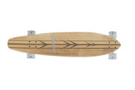 "Karnage 38"" Bamboo Longboard / Clear Wheels"