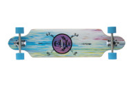 "Karnage 38"" Drop Through Longboard / Blue Wheels"