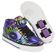Heelys X2 - Cruz - Purple/Rainbow/Zebra