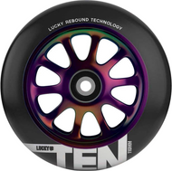 Lucky Ten 110mm Wheels - Neo Chrome / Black
