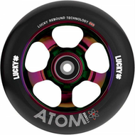 Lucky Atom 110mm Wheels - Neochrome / Black