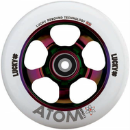 Lucky Atom 110mm Wheels - Neochrome / White