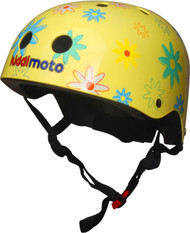 Kiddimoto Flower Helmet - 53cm-58cm adjustable Helmet - Medium