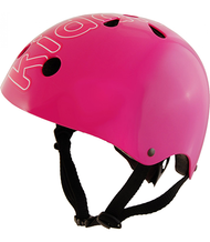 Kiddimoto Pink Helmet - 53cm-58cm adjustable Helmet - Medium