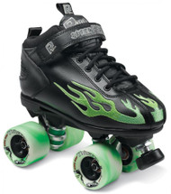 Suregrip Quad Skates - Rock Flame Black/Green
