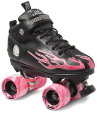 Suregrip Quad Skates - Rock Flame Black/Pink