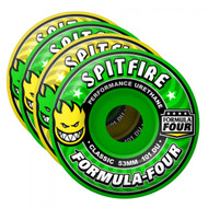 Spitfire Formula Four Wheels	Classic Coolade Mash 101DU - Yellow/Green - 53  MM