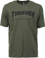 Thrasher T Shirt - Skate Mag - Army Green