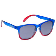 Glassy - Deric Sunglasses Clear Blue/Clear Red