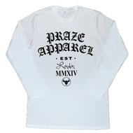 Praze - Old London Apparel Long Sleeve Tee - Black/White