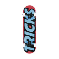 Tricks Skateboards Logo Mini Complete Skateboard 7.25""