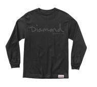 Diamond - OG Script L/S Tee - Black
