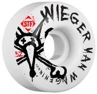 Bones Wheels - STF Wieger Faded V1 - White - 52  MM